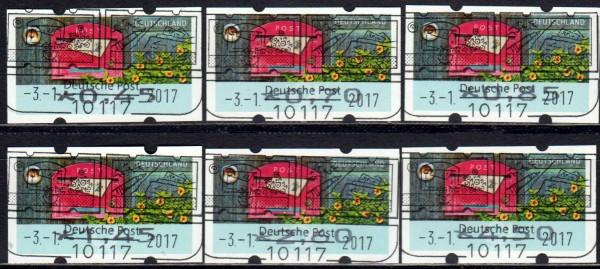 Briefe empfangen, Tastensatz mit rückseitiger Nummer, ESSt Berlin