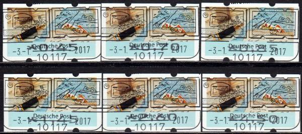 Briefe schreiben, Tastensatz mit rück- seitiger Nummer, ESSt Berlin