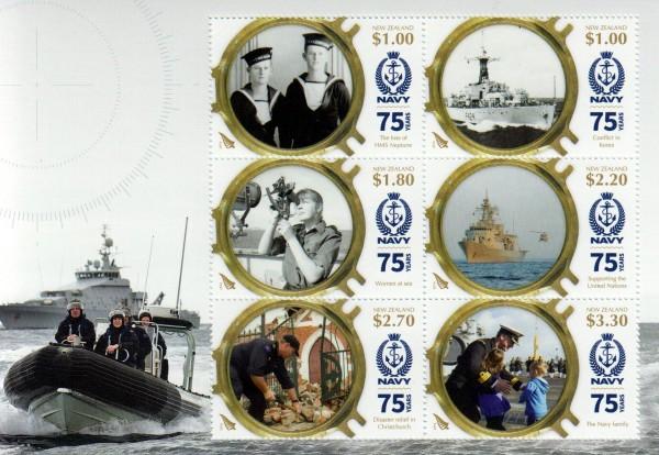 Block: 75 Jahre Navy, Schiffe, Matrosen