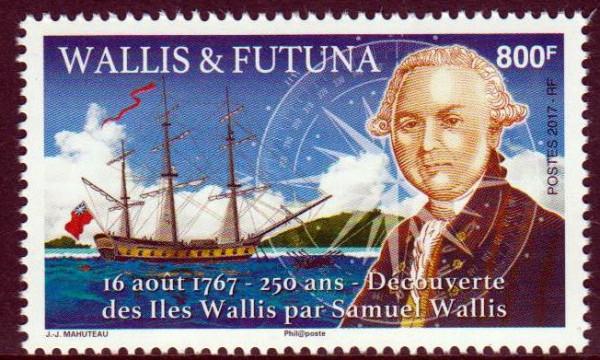 Entdeckung v. Wallis u. Futuna, Segelschiff