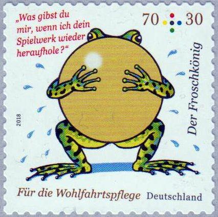 Der Froschkönig, Wofa 2018, sk von Rolle mit rückseitiger Zählnummer