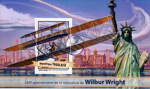 Block: Wilbur Wright 2017, Flugzeug