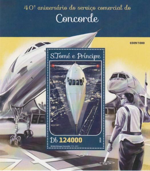Block: Erster Flug Concorde, Flugzeug
