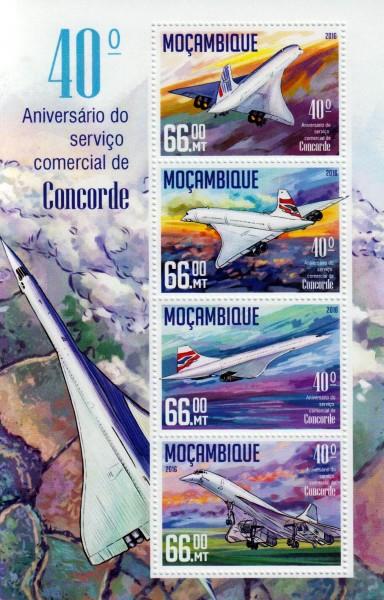 Flug der Concorde, Flugzeuge