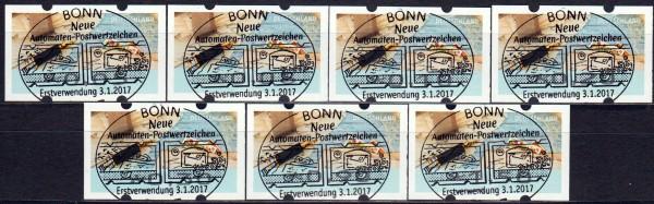 """Briefe schreiben, Ergänzungssatz mit rückseitiger Nr., ESSt Bonn """"A"""""""