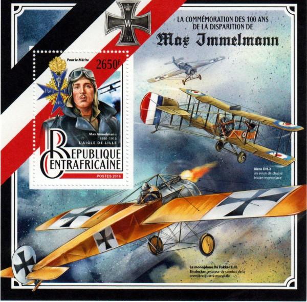 Block: Immelmann, Pilot 1.WK, Flugzeug