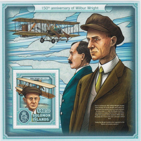Block: Wilbur Wright, Flugzeug