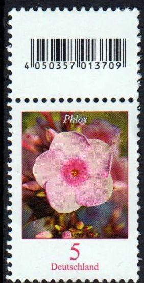 Dauer Blumen, Phlox, 5 Cent, ohne rückseitiger Nr, aber mit Codemarke