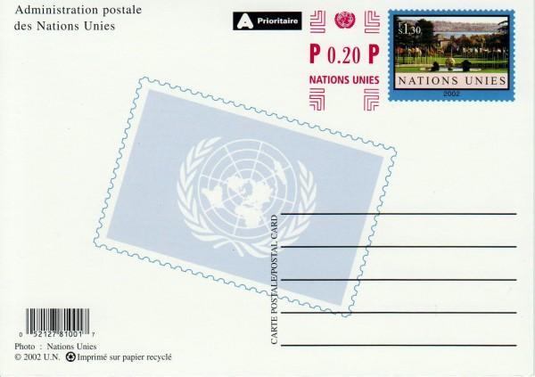 UNO Genf 2002 m. Zudruck 0,20