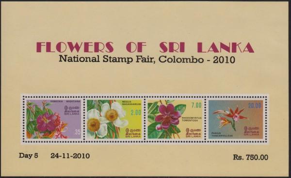 "Block 18 I: Blumen 2010 Aufdr. ""Colombo"" (12P06)"