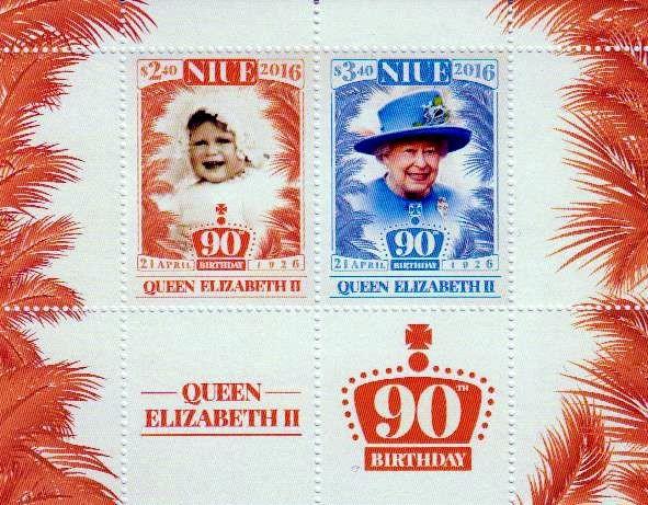 Block: 90. Geburtstag Queen Elisabeth
