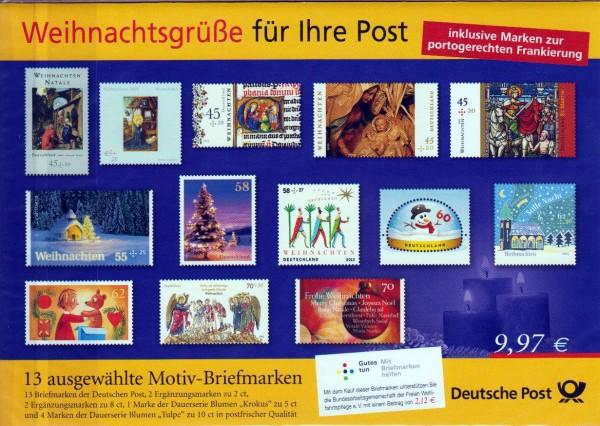 Präsentationspack 2016: Weihnachtsgrüße für Ihre Post, 13 Motivbriefmarken