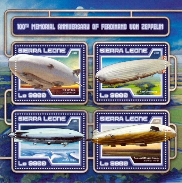 Ferdinand v. Zeppelin, Luftschiffe