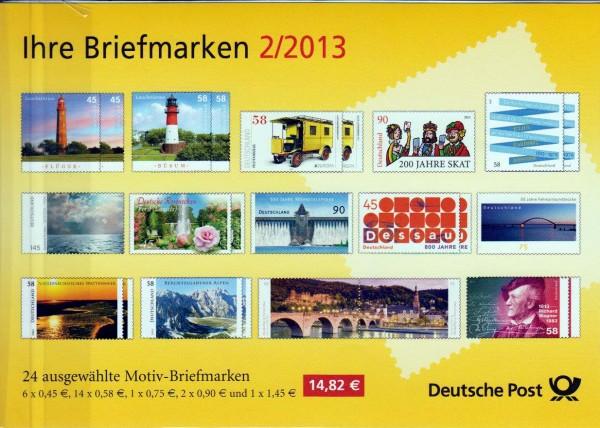 Präsentationspack: Ihre Briefmarken 2/2013, 24 Motiv-Briefmarken 2013