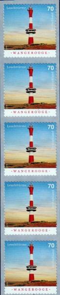 Leuchtturm Wangerooge 2018, sk, 5er-Streifen