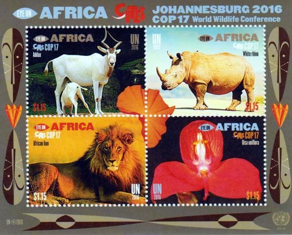 Block: Artenschutzkonferenz, gestempelt