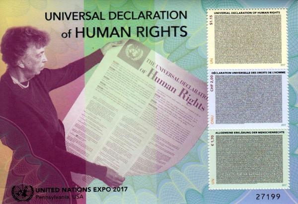 Block: Deklaration der Menschenrechte, Expo 2017 UNO Wien u. New York GA