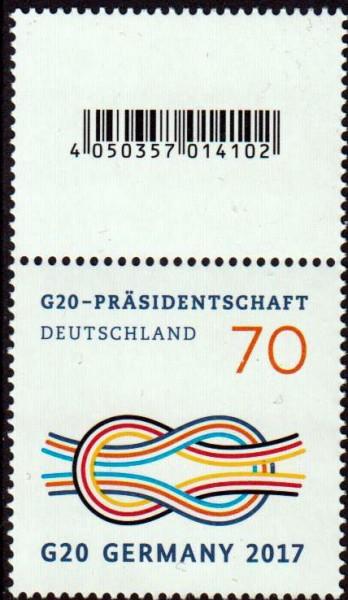 G20-Präsidentschaft, ohne rückseitiger Nummer, aber mit Codemarke