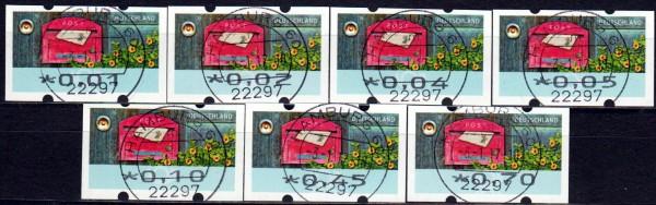 Briefe empfangen, Restwertesatz (ohne Nr), E-Tagesstempel Hamburg